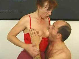 Pussy of mature devours hard dick