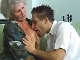 Dick hungry granny gets to taste one from young guy