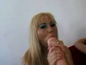 Blonde milf gets cum after crazy anal sex in orgy
