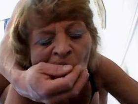 Redhair mature fucking and licking ass of two men
