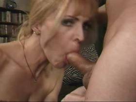 Blond milf fucks in diff positions and gets facial