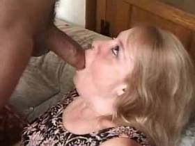 Blond mature gets creampie after sex in diff poses