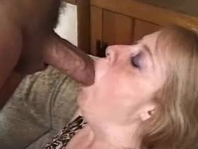 Blonde aged mature getting creampie after hot fuck
