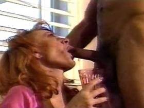 Redhead hot milf fucks and gets cumshot on big tits