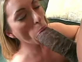 Cute milf fucks with blacky in all poses and gets cum