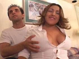 Cute chubby mature sucking and fucking in gangbang