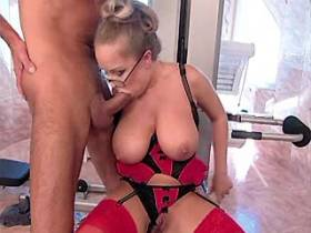 Beautiful milf has fuck and gets cum on great tits