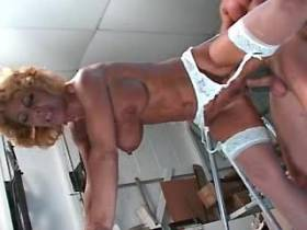 Blonde milf gets cumshot after fuck in diff poses
