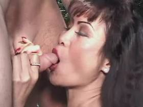 Mature fucks in all holes and gets facial in orgy