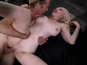 Blond mature jumps on cock and gets cumshot in mouth