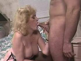 Blonde lewd mature has oral sex and gets hard fuck