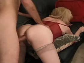 Mature gets cock in all holes and watches on cumshot